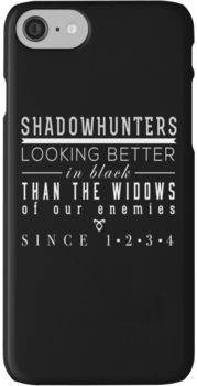 """The Mortal Instruments: """"Shadowhunters"""" iPhone 7 Cases"""