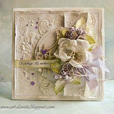 Dorota_mk: Ślubnie z odrobiną mięty i fioletu