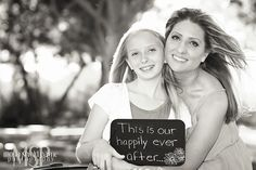 Wedding anniversary photo idea, Mother Daughter portraits, holiday card idea, happily ever after sign, Las Vegas photographer   Mona Shield Payne Photography