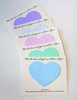 Heart forget me not memorial cards