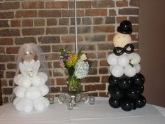 Bride and Groom Balloons - would be so cute for an Engagement Party or Wedding Shower!