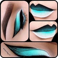 "Fun Winged Liner Products used for eyes & lips - ""Blow"" Lipstick ""Milk"" Jumbo Pencil Eyeshadow MAC ""Aqua"" Eyeshadow Gel Liner ""Ocean"" Cream Liner ""Fetch"" Mink Lashes brushes Lip Art, Lipstick Art, Black Lipstick, Crazy Makeup, Love Makeup, Makeup Art, Beauty Makeup, Amazing Makeup, Makeup Ideas"