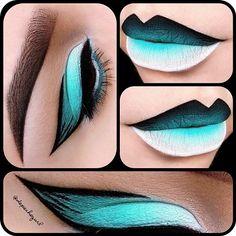 "Fun Winged Liner Products used for eyes & lips - ""Blow"" Lipstick ""Milk"" Jumbo Pencil Eyeshadow MAC ""Aqua"" Eyeshadow Gel Liner ""Ocean"" Cream Liner ""Fetch"" Mink Lashes brushes Lip Art, Lipstick Art, Black Lipstick, Crazy Makeup, Cute Makeup, Makeup Art, Makeup Ideas, Makeup Tutorials, Eyeshadow Makeup"