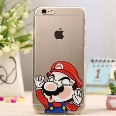 Super Mario iPhone 6 Plus / 6s Plus Clear Case Brand new! Thin clear rubber case. Price is firm! No trades! Accessories Phone Cases