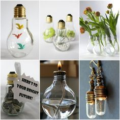 DIY projects with old light bulbs - 25 creative craft ideas Light Bulb Vase, Light Bulb Crafts, Diy Craft Projects, Craft Tutorials, Craft Ideas, Creative Crafts, Fun Crafts, Diy And Crafts, Diy Diapers