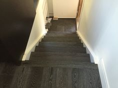 Engineered Ebony White Oak prefinish hardwood Stairs Hardwood Stairs, White Oak, Home Decor, Wooden Ladders, Homemade Home Decor, Decoration Home, Wooden Stairs, Interior Decorating