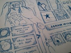 Sketches, Layouts & Wireframes by Jorge Alberto Machado Colon, via Behance