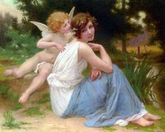 File:Seignac Guillaume Cupid and Psyche Oil On Canvas. Cupid Images, Popular Paintings, William Adolphe Bouguereau, Angel And Devil, Tile Murals, Oil Painting Reproductions, Quilt Blocks, Mythology, Art Gallery