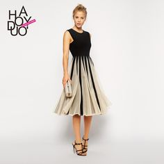 Hot Sale New 2015 Europe Summer Elegant Plus Size Fashion A-Line Women Casual Vintage Dresses Sleeveless Vestidos De Festa Dress - http://www.freshinstyle.com/products/hot-sale-new-2015-europe-summer-elegant-plus-size-fashion-a-line-women-casual-vintage-dresses-sleeveless-vestidos-de-festa-dress/