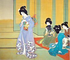 上村松園「舞仕度」(1914)