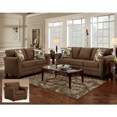 3250 Council Fudge Sofa & Loveseat by Washington Furniture. Get your 3250 Council Fudge Sofa & Loveseat at Railway Freight Furniture, Albany GA furniture store. Living Room Interior, Living Room Furniture, Living Room Decor, Furniture Sale, Sofa Furniture, Furniture Dolly, Furniture Movers, Leather Furniture, Furniture Layout
