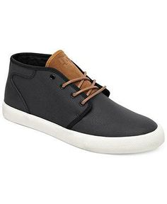 The kind of kicks he can wear with jeans or a pair of dress pants DC Shoes leather sneakers