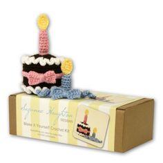 Make-it-yourself crochet chocolate cake kit -for my girl