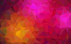 Download wallpapers multicolored bright abstraction, triangles abstraction, geometric shapes, 3d background