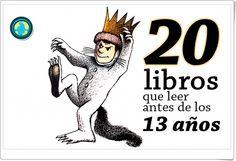 """""""20 libros que leer antes de los 13 años"""" es una selección realizada por mundoprimaria.com y que parece ser bastante acertada. Algunos de los libros de la lista aparecen reseñados en el presente blog."""