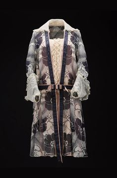 Paul Poiret, Day Dress, 1924. Printed chiffon, crêpe de chine, organza, print by Raoul Dufy. France. Via National Museums Scotland.