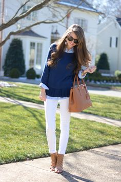 Southern Curls & Pearls: Prepster. Cute preppy look