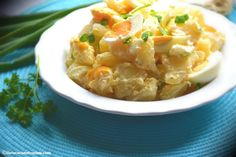 This is such a rich and tasty potato salad complimented with a hint of sweet mustard. So so tasty you'll have everyone wanting seconds. Using desiree potatoes, hard boiled eggs, spring onion and the tastiest real egg mayonnaise you can find, this potato salad is super easy to make and is the perfect choice for your summer barbecues. Simply delicious.