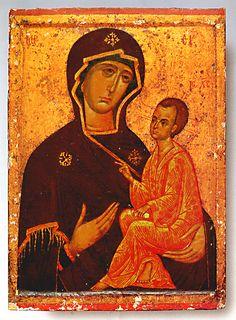 Тихвинская икона Божией Матери (Одигитрия)