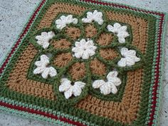 Ravelry: kindredcottage's Christmas Stained Glass Afghan