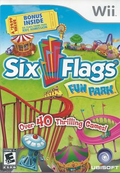 Six Flags Fun Park  (Nintendo Wii) COMPLETE!!!