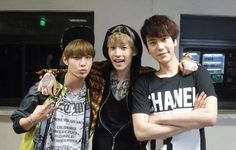 Henry with Taemin and Kyuhyun