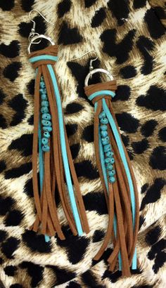 Fringe Earrings | Turquoise Tumbleweed