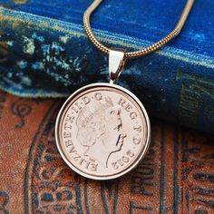 2012 Copper Anniversary Necklace, 2012 Coin Necklace, Anniversary Gift for Her, Birthday Mum, English Coin Necklace Opal Necklace, Gold Plated Necklace, Coin Necklace, Copper Anniversary Gifts, Anniversary Gift For Her, English Coins, Necklace Online, Simple Necklace, Rose Gold Plates