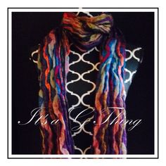 Squiggle Waves Purple Mix Scarf