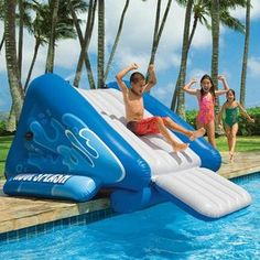Buy a Intex Pool Splash Water Slide? at The Pool Supplies Superstore. Swimming Pool Slides, Intex Swimming Pool, Pool Water Slide, Intex Pool, My Pool, Water Slides, Pool Fun, Fun Backyard, Structures Gonflables