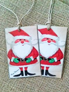 Vintage 1970's Image Christmas Gift Tag by wildabouthandmades, $10.00