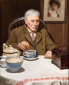 Charles Spencelayh-The Old Tea Caddy
