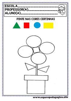 Shape Worksheets For Preschool, Body Preschool, Shapes Worksheets, 4 Year Old Activities, Preschool Learning Activities, Kindergarten Coloring Pages, Math For Kids, Kids Education, Bonding Activities