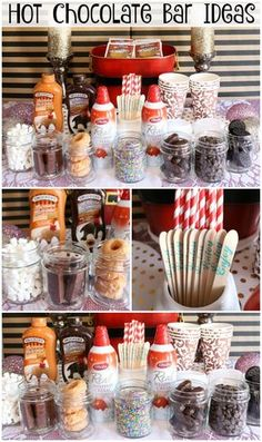 Hot Chocolate Bar Ideas - delicious hot chocolate mix-in ideas perfect for holidays parties!