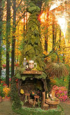 Fairy House, Woodland Bar & Grill, Fairies, Woodland Fairies, Faerie, fairy