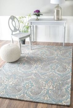 nuLOOM Handmade Carved Talisman Wool Ivory Rug x - x (Ivory - x Area Rug Sizes, Rugs Usa, Contemporary Rugs, Grey Rugs, Wool Area Rugs, Wool Rug, Home Decor Outlet, Online Home Decor Stores, Hand Weaving