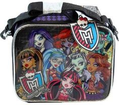 Amazon.com: Mattel Monster High Black / Purple Insulated Lunch Bag: Kitchen & Dining