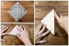 instructions montrant étape par étape le pliage d'un modème d'origami bateau à voile