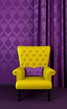Purple & Yellow...although I kind of feel like Prince should be sitting in that chair. LOL!!