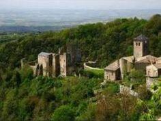 Château de Saissac à l'entrée de la Montagne Noire