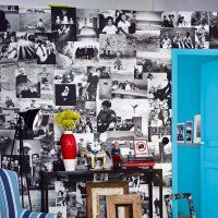 Un mur tapissé de photographies - Marie Claire Idées