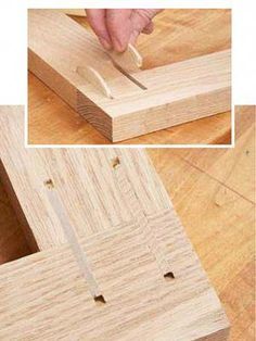 For quick, reliable alignment and joining of project parts, nothing beats a biscuit joiner. For quick, reliable alignment and joining of project parts, nothing beats a biscuit joiner. Woodworking Joints, Learn Woodworking, Woodworking Techniques, Easy Woodworking Projects, Woodworking Furniture, Diy Wood Projects, Wood Crafts, Woodworking Plans, Wood Furniture
