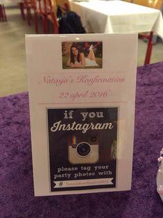 Instagram på den ene side og menu på den anden - A kort