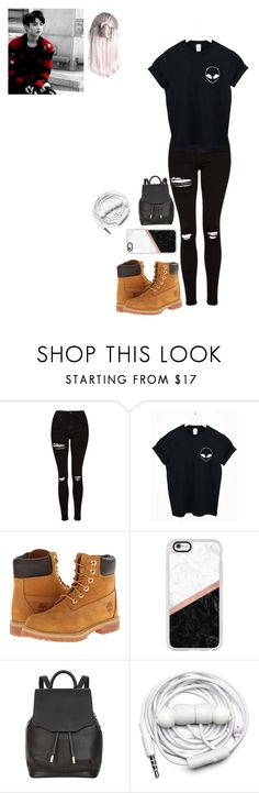 """""""""""Hi babe, I'm jungkook"""" catherine"""" by justcatherine ❤ liked on Polyvore featuring Topshop, WithChic, Timberland, Casetify, rag & bone and Urbanears"""