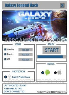 Galaxy Legend Hack Cheat 2016 tool download. With updated Galaxy Legend Hack you will have just fun. Try Galaxy Legend Hack tool. Galaxy Legend Hack working with last update.
