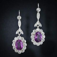 Modeschmuck ohrringe pink  Rosa Kristall Lange Hängende Ohrringe Frauen Silber Lange Ohrringe ...
