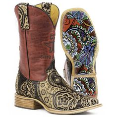 Tin Haul Women's Paisley Rocks Western Boots