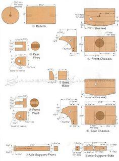 #1908 Wooden Steam Roller Plan - Wooden Toy Plans