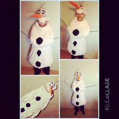 DIY Homemade Olaf from Frozen Snowman Costume
