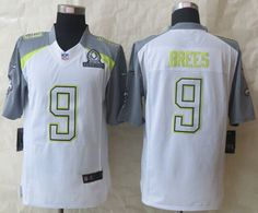 "$25.88 at ""MaryJersey"" (maryjerseyelway@gmail.com) Nike Saints No.9 Drew Brees White Pro Bowl Men's Stitched NFL Elite Team Carter Jersey"
